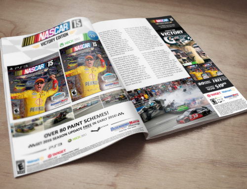 NASCAR '15 Victory Edition 3-Page Ad Layout